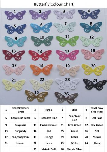 DIECUT BUTTERFLY CARD MAKING TOPPERS  various colours X 20